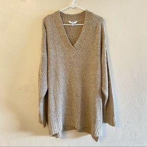 Time & Tru NWT Oatmeal V Neck Sweater Size XXL